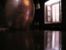 Vecchia finestra della stanza della casa Fotografia Stock