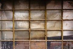 Vecchia finestra della tettoia Fotografie Stock