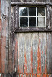 Vecchia finestra di cabina Immagine Stock