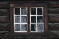 Vecchia finestra di legno Immagini Stock Libere da Diritti