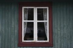 Vecchia finestra di legno Fotografia Stock Libera da Diritti