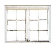 Vecchia finestra di legno Immagini Stock