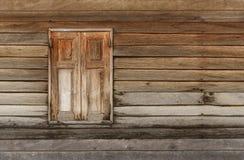 Vecchia finestra di legno Immagine Stock