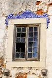 Vecchia finestra di Lisbona Fotografie Stock