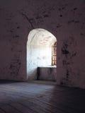 Vecchia finestra di pietra Fotografia Stock Libera da Diritti