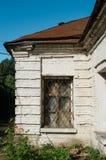 Vecchia finestra di vecchia casa Fotografia Stock Libera da Diritti