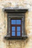 Vecchia finestra e vecchia parete Fotografie Stock Libere da Diritti