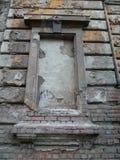 Vecchia finestra falsa Fotografia Stock Libera da Diritti
