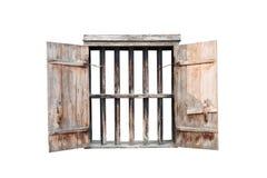 Vecchia finestra isolata Fotografia Stock