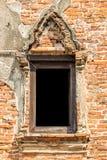 Vecchia finestra tailandese tradizionale di stile Immagini Stock