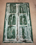 Vecchia finestra verde Fotografia Stock Libera da Diritti