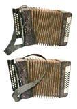 Vecchia fisarmonica del bottone Immagine Stock
