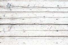 Vecchia fondo, tavola o pavimento bianca di legno d'annata immagini stock libere da diritti