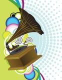 Vecchia fonografo o grammofono Immagini Stock Libere da Diritti