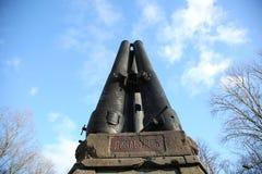 Vecchia fontana del unwork in Daugavpils dai cannoni Immagini Stock Libere da Diritti