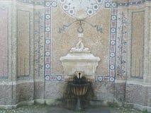 Vecchia fontana di secolo della donna XIX della statua Immagine Stock