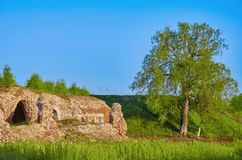Vecchia fortezza in Daugavpils Immagini Stock Libere da Diritti