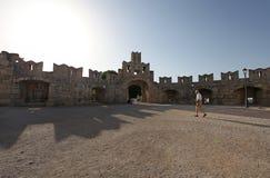 Vecchia fortezza della città di Rodi La Grecia Fotografie Stock