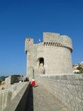 Vecchia fortezza della Croazia della città di Ragusa Immagine Stock