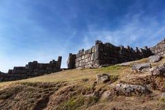 Vecchia fortezza di inca Fotografie Stock