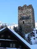 Vecchia fortezza di pietra Wassen, Svizzera fotografia stock libera da diritti