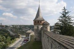 Vecchia fortezza difensiva in Ucraina Fotografia Stock