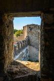 Vecchia fortezza sul fiume Nistro in piegatrice della città, la Transnistria Città all'interno dei confini della Moldavia sotto d Immagini Stock Libere da Diritti