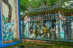 Vecchia fortezza Un frammento della decorazione, TONALITÀ, VIETNAM Immagine Stock