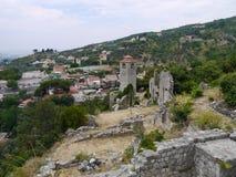 Vecchia fortezza in vecchio Antivari Montenegro Immagini Stock Libere da Diritti