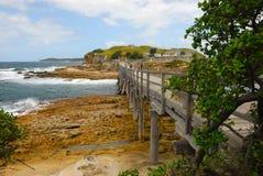 Vecchia fortificazione alla baia di botanica, Australia Immagine Stock