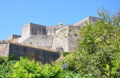Vecchia fortificazione, città di Corfù, Grecia Fotografia Stock