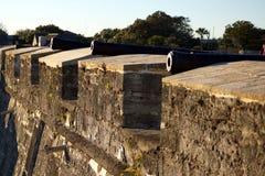 Vecchia fortificazione dei cannoni Fotografia Stock Libera da Diritti