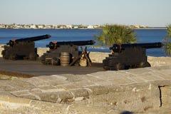 Vecchia fortificazione dei cannoni Fotografie Stock Libere da Diritti