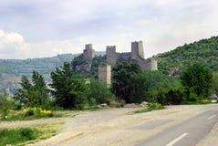 Vecchia fortificazione di pietra in Serbia fotografie stock
