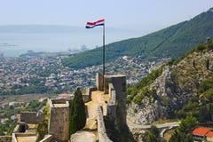 Vecchia fortificazione nella spaccatura, Croatia Fotografia Stock Libera da Diritti