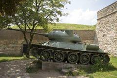 Vecchia foto del carro armato di esercito Immagini Stock Libere da Diritti