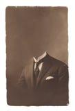 Vecchia foto del ritratto Immagini Stock