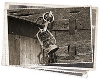 Vecchia foto dell'annata della lampada Fotografia Stock