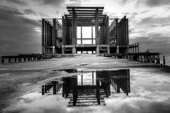 Vecchia foto di architettura in bianco e nero Fotografie Stock Libere da Diritti