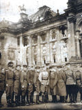 Vecchia foto di Berlino in 1945 Fotografie Stock