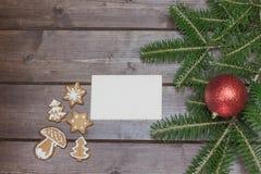 Vecchia foto e simboli del Natale Immagine Stock Libera da Diritti