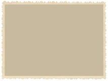 Vecchia foto invecchiata di seppia del bordo di lerciume, fondo orizzontale vuoto in bianco, struttura di scheda immagine d'annat Fotografie Stock