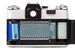 Vecchia foto-macchina fotografica d'annata del film Fotografia Stock
