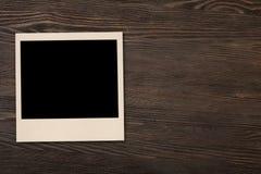 Vecchia foto su legno Fotografia Stock Libera da Diritti