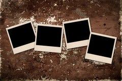 Vecchia foto sul fondo di lerciume Fotografia Stock Libera da Diritti