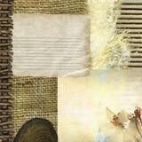 Vecchia frangia sfilacciata della tela da imballaggio Fotografie Stock Libere da Diritti