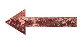 Vecchia, freccia arrugginita immagine stock libera da diritti