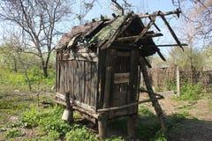 Vecchia gabbia del grano Fotografia Stock