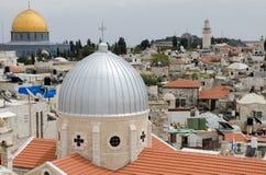Vecchia Gerusalemme Vista da centro ospedaliero austriaco fotografie stock