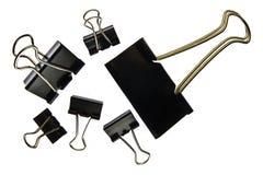 Vecchia graffetta del metallo isolata su fondo bianco Fotografie Stock Libere da Diritti